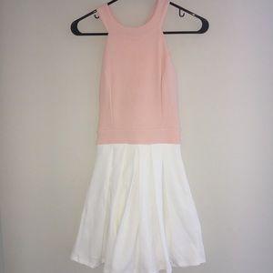 Akira pink and white dress